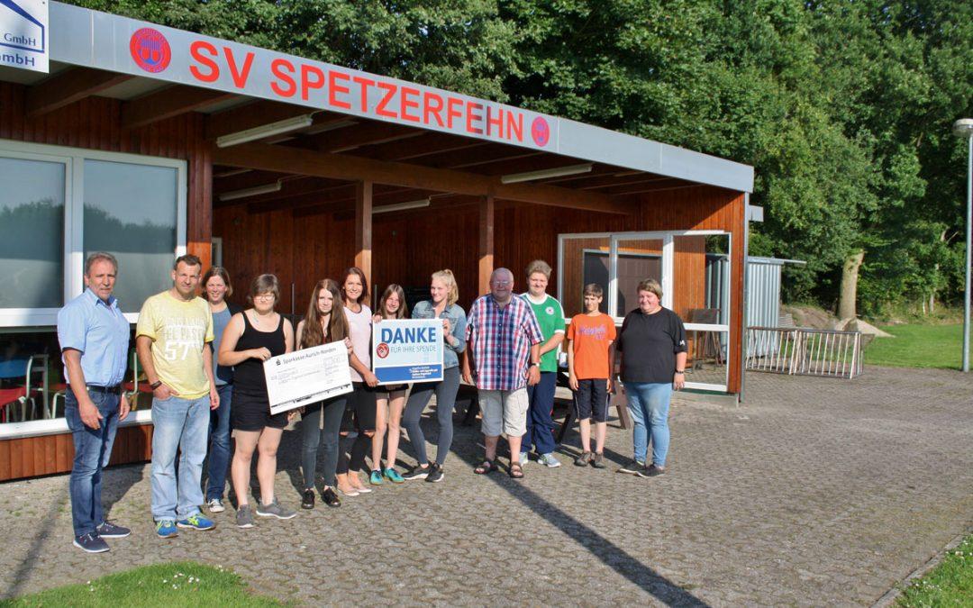 """SV Spetzerfehn spendet für die Kinder- und Jugendhospiz """"Joshuas Engelreich"""" Wilhelmshaven"""