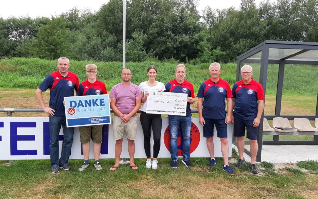 Spendenaktion zahlt sich aus – 2500€ für das Kinderhospiz in Wilhelmshaven!