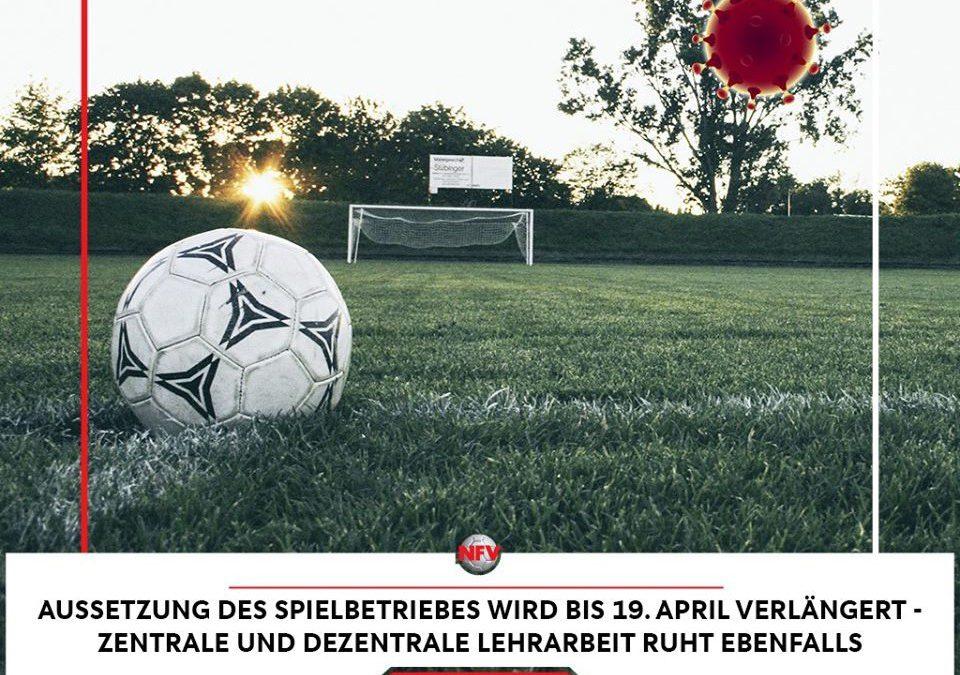 Spiel- und Trainingsbetrieb ruht bis zum 19. April